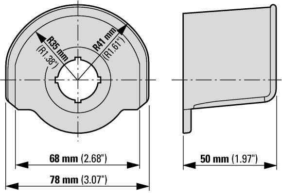Eaton Guard ring M22 Dimensions